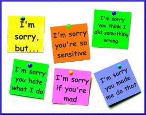 false apologies